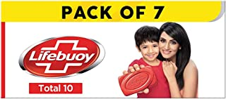 Lifebuoy Total10 Germ Protection Bathing Soap, Protects Your Skin From Viruses & Other Harmful Germs Using Activ Silver Sh...
