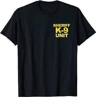Sheriff K-9 Unit Shirt Front & Back Print Law Enforcement
