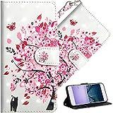 COTDINFOR pour Nokia 7 Plus Coque Élégant 3D Effet Peint PU Portefeuille Étui en Cuir Cover Stand...