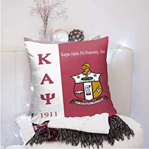 CARSLEY Kappa Alpha Psi Throw Pillow Cover Cushion Cover Pillow Case Square Pillowcase Home Decor Decorations for Sofa Bed Chair Car 18