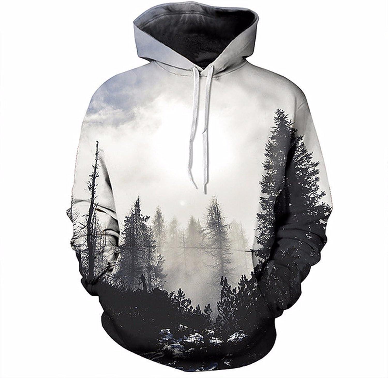 392c32b37 Autumn Spring Fashion Mens Hoodies and Sweatshirts Sweatshirts Sweatshirts  3D Print Trees Forest Simple Sporting Quick Dry Coat 26ecc9