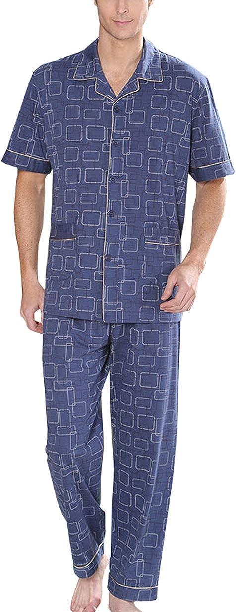 KM Men's Short Sleeves and Brand Cheap Sale Venue Pajama Set Sale SALE% OFF Long Pants