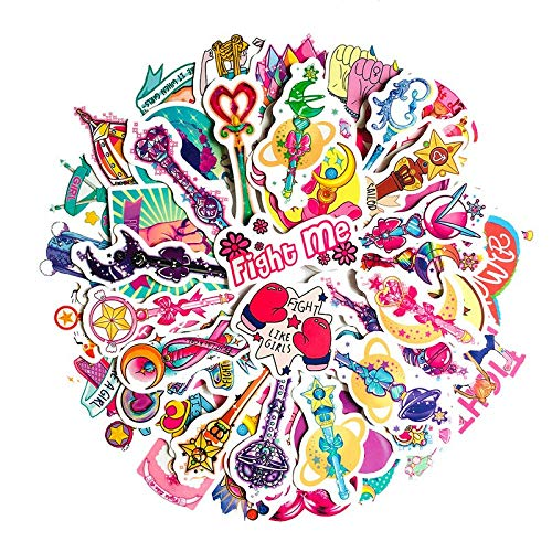 BAIMENG Anime Sailor Moon Pegatina Paster Dibujos Animados álbum de Recortes artesanía decoración Cosplay Disfraces Accesorios de utilería 50 Uds