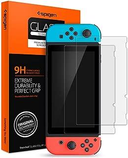 Spigen, 2Pack, Nintendo Switch Screen Protector, Glas.tR SLIM, 9H Tempered Glass, High Responsiveness, Bubble-free, Anti-fingerprint, Anti-scratch, Tempered Glass for Nintendo Switch