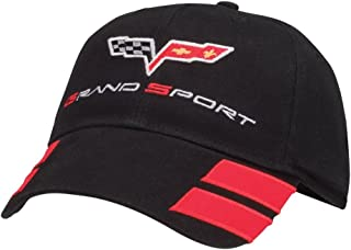 C6 Corvette Grand Sport Black Hat with Red Hash Marks