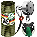 Jungle Monkey® Premium Magnetangeln Set | Neodym Magnet doppelseitig | Magnetfischen Komplettset inkl. 25m Seil + wasserfeste Handschuhe