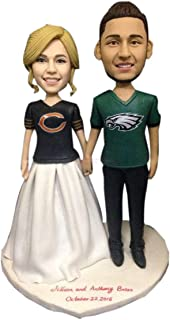 Chicago Bears Philadelphia Eagles Fan Personalizzato Cake Topper Figurina personalizzata Bobble Head basata sulle foto dei...
