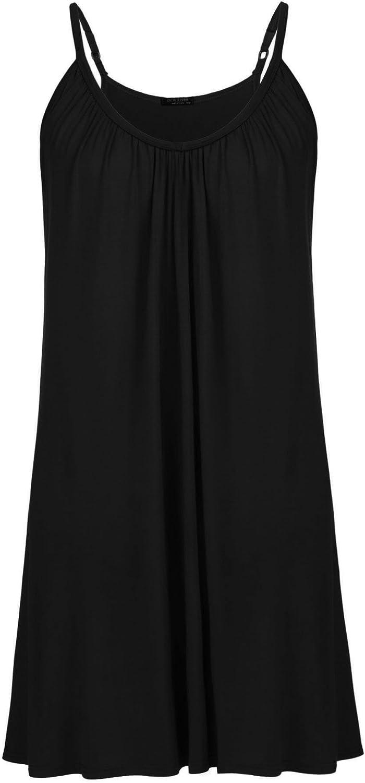 Womens Plus Size Nightgown Sleeveless Sleepwear Modal Cotton Sleepshirts Slip Night Dress (L-5XL)