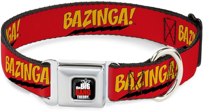 BuckleDown DCWBBT001WM Dog Collar Seatbelt Buckle, Bazinga  Red gold Black, 1.5  by 1623