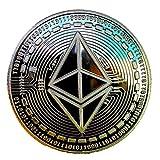 TopStore100 | Ethereum Moneda Fisica con Pegatinas | Monedas Coleccionables | Coleccion de Monedas | Monedas Plata |...