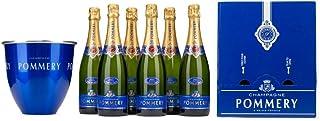 Pommery Set 6 Flaschen POMMERY BRUT ROYAL in Geschenkpackung  1 Kühler Champagner 0.75l Flasche
