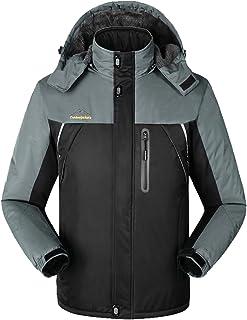 Lottaway Men's Fleece Lined Breathing Climbing Outdoor Jacket Ski Parka Coat