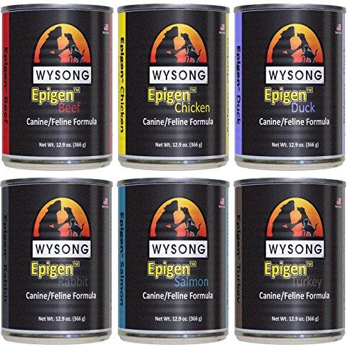 Wysong Epigen Variety Pack Canine/Feline Canned Formula - Dog/Cat/Ferret Food, Six- 12.9 Ounce