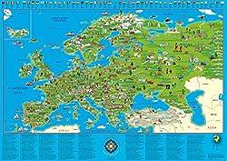 Europakarte für Kinder