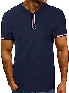 Camisas Hombre a Rayas Manga Corta Tallas Grande Camiseta Transpirable Originales Marcas Blusa Ropa Primavera Verano