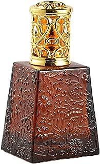 Feminine Wedding Engraved Catalytic Glass Fragrance Lamp For Home Decor Brown 100ml