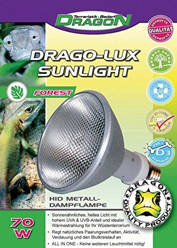 Dragon Drago-LUX Sunlight Forest 70w - Metalldampflampe für E27 Fassung mit UVA und UVB Strahlung