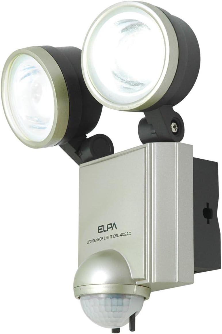 ELPA outdoor sensor light AC 2 lights 4wLED power ESL-402AC Max 51% OFF Portland Mall