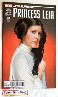 Star Wars Princess Leia # 1 Retailer Incentive Carrie Fisher Photo Cover Variant - Limited Edition 1 In 15 - Marvel Comics 2015-1 Uncirculated Comic Book Graded 9.8 By The Seller