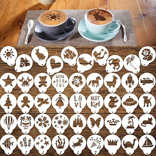 Konsait Cookie Template Stencil, 46 Pieces latte...
