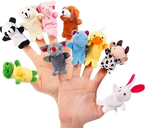 Comtervi Peluche Animaux Finger Puppets Jouets - Assortiment De Jouets Figurines Mini en Peluche pour Enfants, Jeu De...