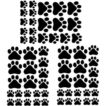 Mural Home Removable Print Stickers Tide Dog Paw Decor Kid Room ...