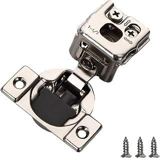 أدوات الفرن 50 قطعة مفصلة خزائن الإغلاق الناعمة، 1-1/2 بوصة مفصلات خزانة الأجهزة مطلية بالنيكل - 105 درجة