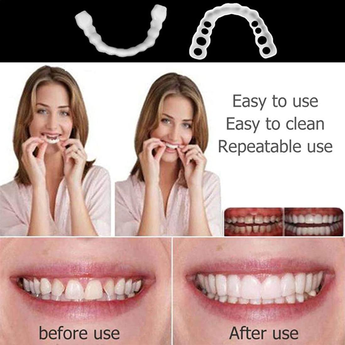 ファーザーファージュ含むワーカー5ピースシリコンアッパー偽の歯偽歯カバーホワイトニング義歯口腔ケア歯ホワイトニング2019歯科口腔ケア