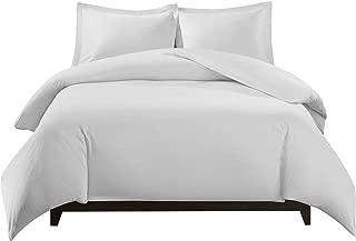 Royal Tradition 100 Percent Bamboo Viscose King/California 3PC Duvet Cover Set, White, Super Soft Comforter Covers