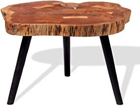 Log Coffee Table Festnight Sofa Side Table Wooden Retro Table Dining Table Living Room Furniture Industrial Style (55-60) ...