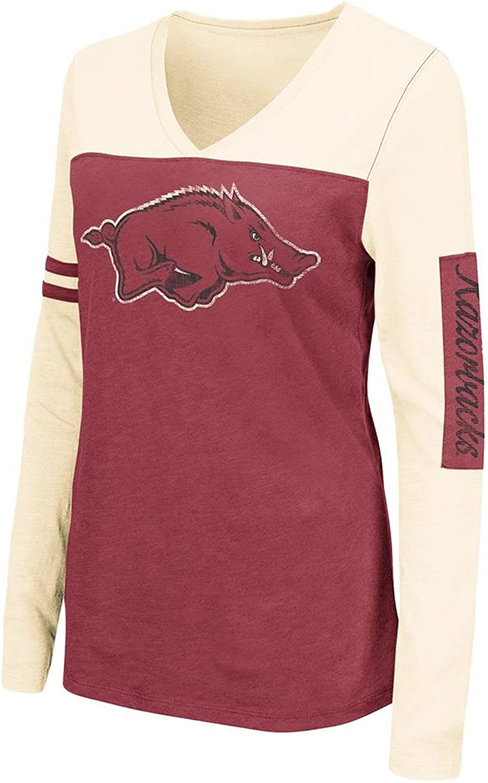 Womens NCAA Arkansas Razorbacks Long Sleeve Tee Shirt (Team color)