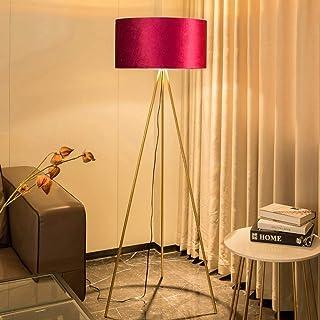 salon trépied classique Lampadaire Minimaliste Lampe Sur Pied Avec interrupteur LED moderne avec abat-jour en tissu Lampe ...