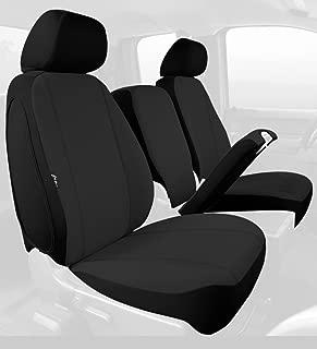 Fia SP88-30 BLACK Custom Fit Front Seat Cover Split Seat 40/20/40 - Poly-Cotton, (Black)