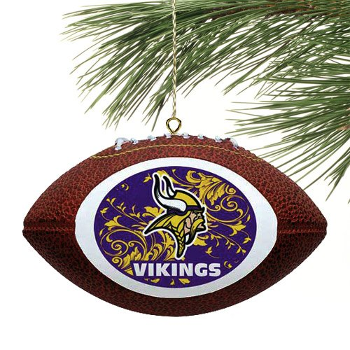 NFL Minnesota Vikings Filigree Touchdown Mini Replica Football Ornament