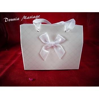 dounia mariage Boite /à g/âteau Fermeture Papillon 25 Pcs Rose
