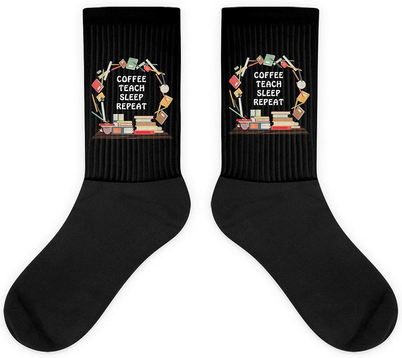 Teacher Proud Gift,Coffee Teach Sleep Repeat,Teaching Pride Sock