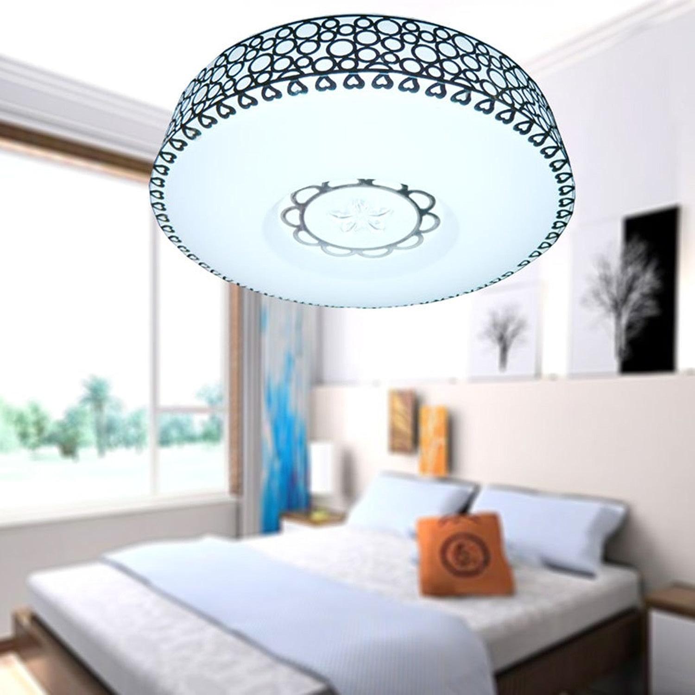 salle de bains Plafonnier Plafonnier moderne de 24W 35CM LED, salon horizontal de pièce en acier inoxydable d'allée de lumière de plafond d'acrylique d'allée de salle de séjour horizontale
