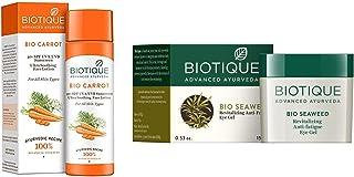 Biotique Bio Carrot Face & Body Sun Lotion Spf 40 Uva/Uvb Sunscreen For All Skin Types In The Sun, 120Ml And Biotique Bio ...