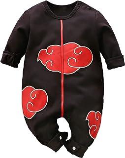 ملابس اطفال وحديثي ولادة من قطعة واحدة رومبر بشكل شخصيات انيمي وتصميم كارتوني لطيف أسود 9-12 Month