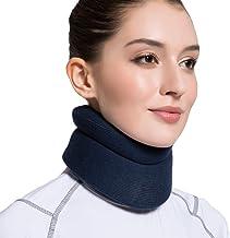 """Velpeau Neck Brace -Foam گردن رحم - پشتیبانی نرم گردن رفع درد و فشار در ستون فقرات - wraps هماهنگ استبداد را تثبیت می کند - می تواند در طول خواب (راحت، آبی، متوسط، 3 """") استفاده شود"""