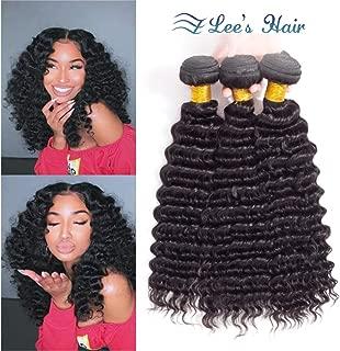 Pineapple Deep Wave Bundles 10A Brazilian Human Hair Deep Curly Bundles 3 Loose Deep Wave Bundles Virgin Hair Weave Bundles Natural Color(10 12 14)