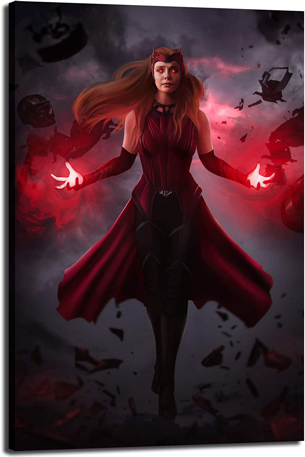 Avengers Scarlet Witch Movie 優先配送 Poster 限定タイムセール HD Canvas Ho Painting Print