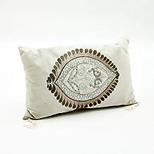 M S L Cream Oblong Cushion