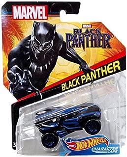 Hot Wheels Marvel Character Car Black Panther (Black Panther Movie) Die-Cast Vehicle