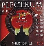 Thomastik Cuerdas para Guitarra Acústica Plectrum Acoustic Series juego AC211 Light 12-string sin niquel