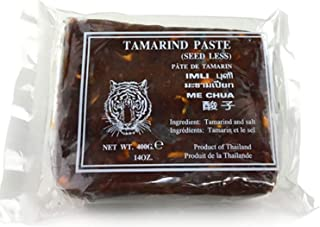 Wet Tamarind Paste,Sour Tamarind Paste Seedless Tamarido Product Thailand,Fresh (1 Pack (14oz each) Tiger)