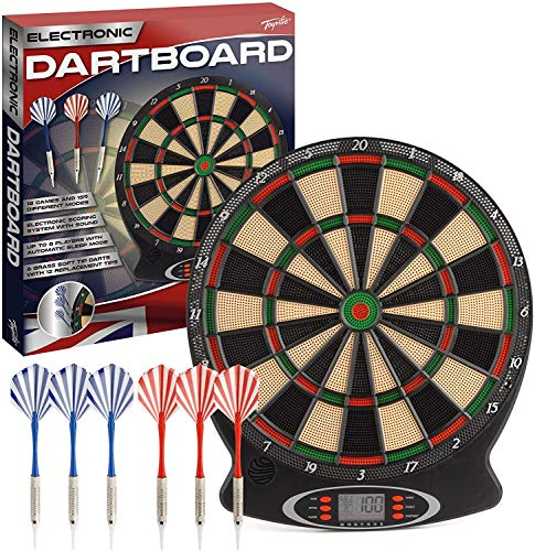 Wilton Bradley Toyrific dartboard with electronic scoring and games plastic...