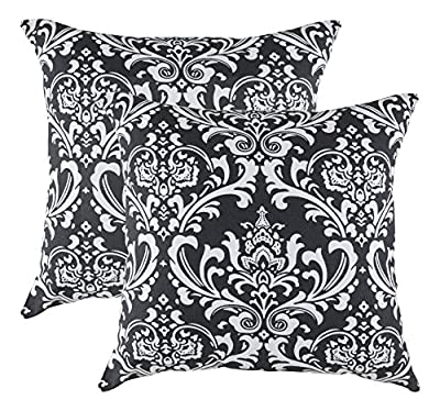 TreeWool, Cotton Canvas Damask Accent Decorative Throw Pillowcases