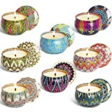 YUCH Scented Candles Outdoor and Indoor, 2.5 oz Scented Candles Pure Soy Wax Portable Travel Tin Candle for...