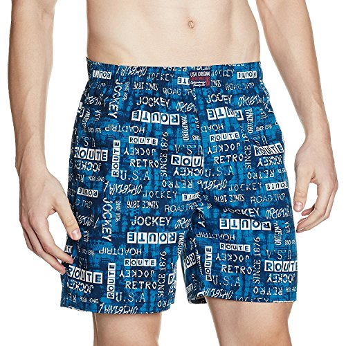 Jockey Men's Cotton Boxers (Pack of 2) (US57_Color May Vary_Large)